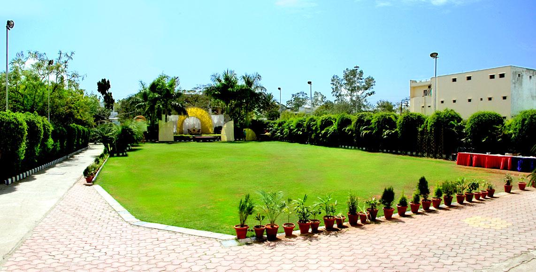 Shri khedapati international for Marriage garden design